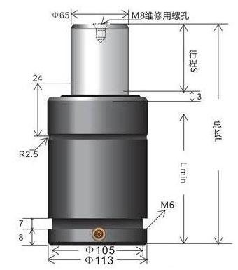 BKC50.0 氮气弹簧 超短强力型氮气弹簧 模具氮气弹簧