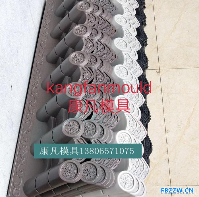 模具生产  仿古屋檐模具制造 塑料瓦片模具厂家