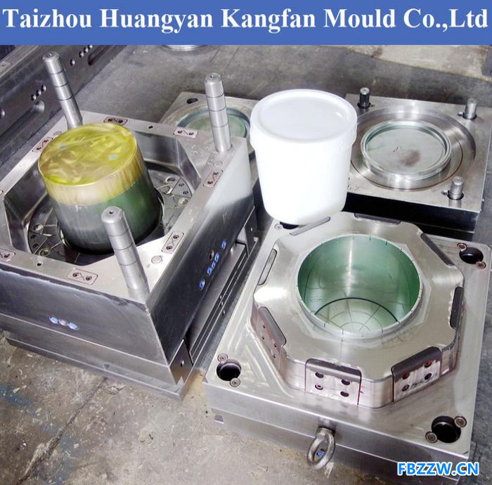 供应塑胶桶模具,18升20升25公斤油漆桶塑料模具制造